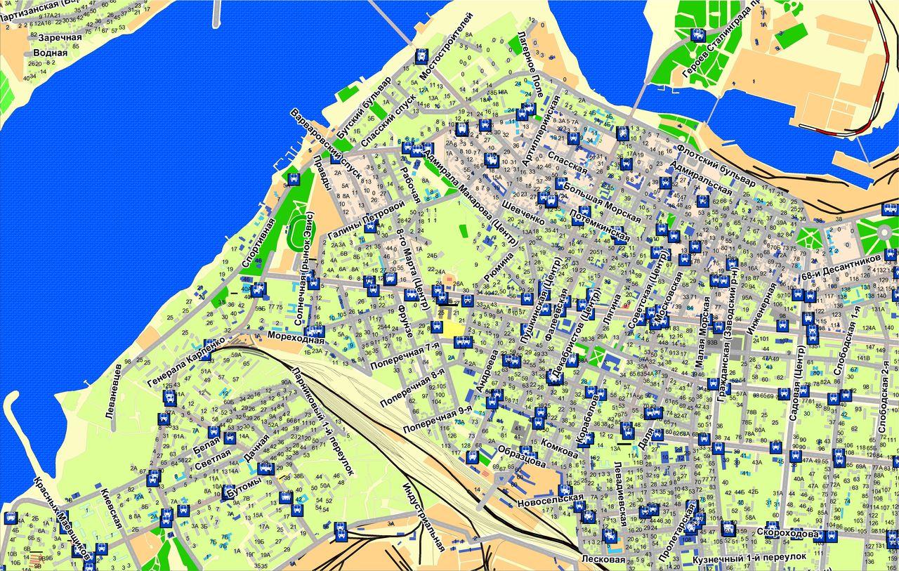 карта николаева с картинками нас